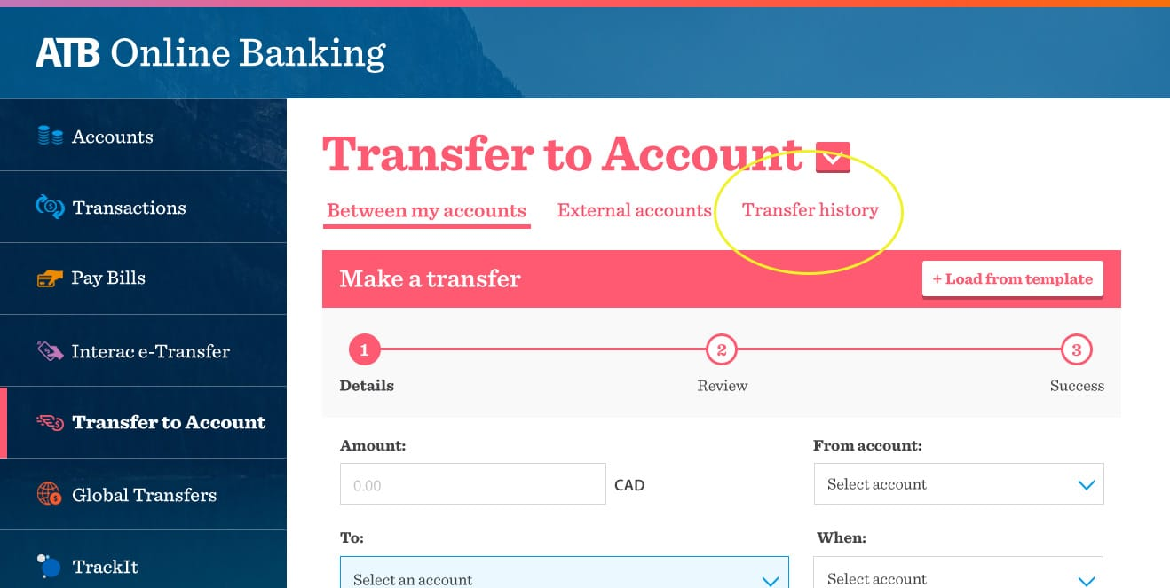 ATB Online Transfers updated