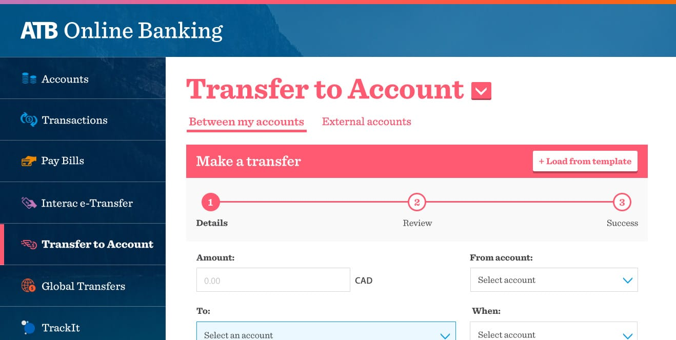 ATB Online Transfers